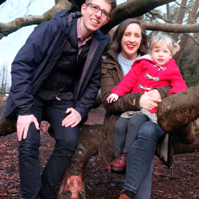 family photoshoot in the lickey hills worcestershire