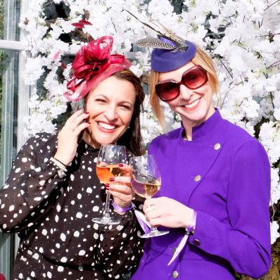 Two Elegant ladies at Cheltenham Festival Ladies Day