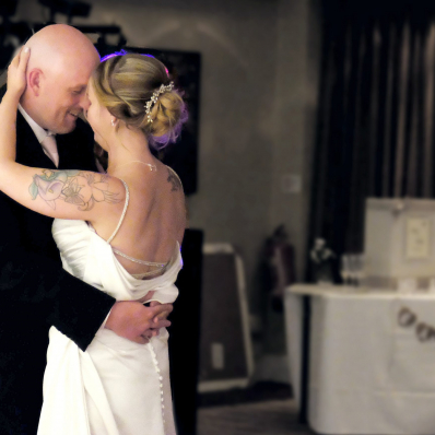 bride and groom first dance at wedding in bromsgrove worcestershire