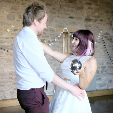 Bride and Groom first dance at wedding in Lyde Arundel Hereford