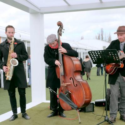 jazz band at cheltenham festival