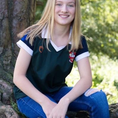 teen girl school photo by tree worcestershire