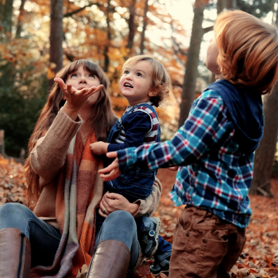 mother and sons autumn photoshoot lickey hills birmingham