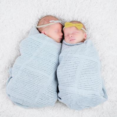 twin newborn girls photoshoot